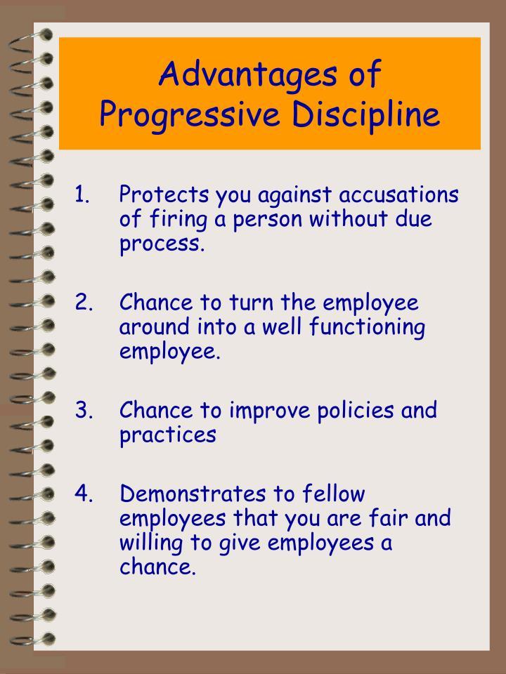 Advantages of Progressive Discipline