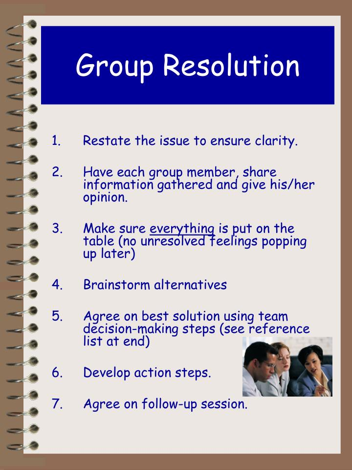 Group Resolution