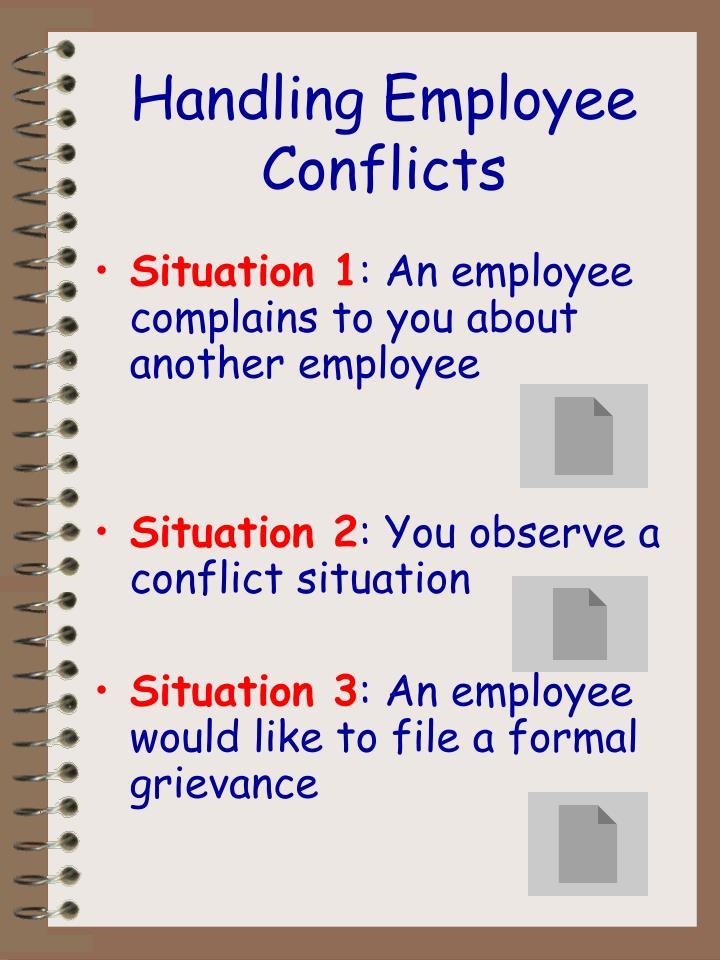 Handling Employee Conflicts