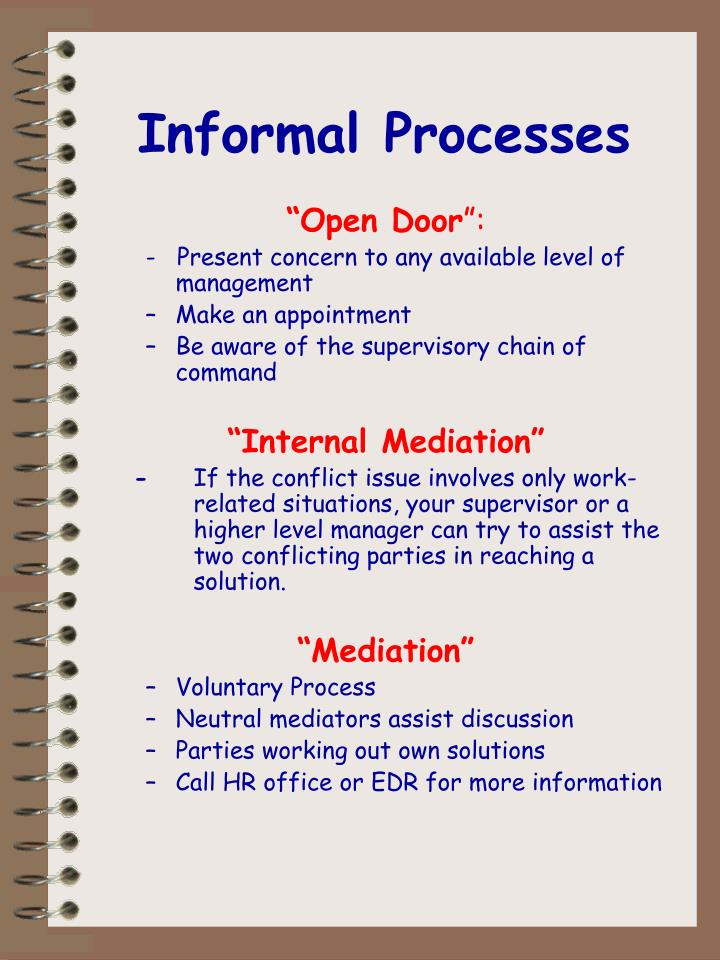Informal Processes