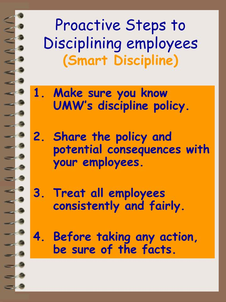 Proactive Steps to Disciplining employees