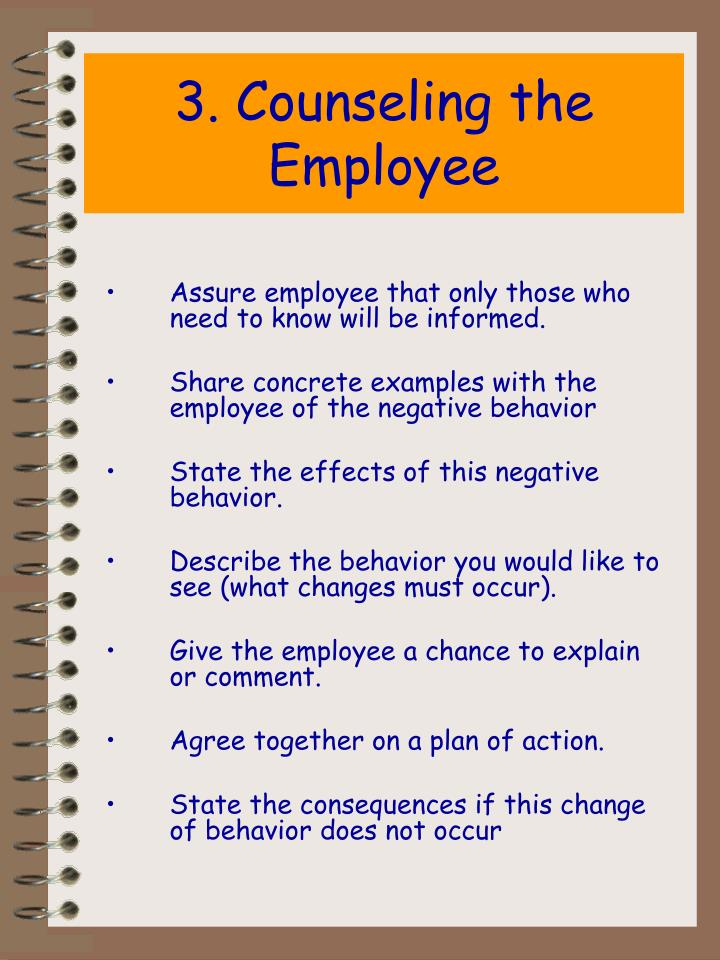 3. Counseling the Employee