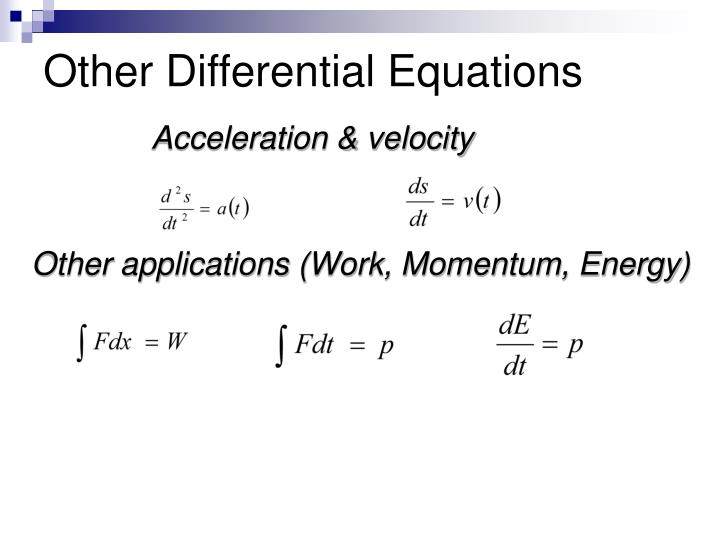 Other Differential Equations