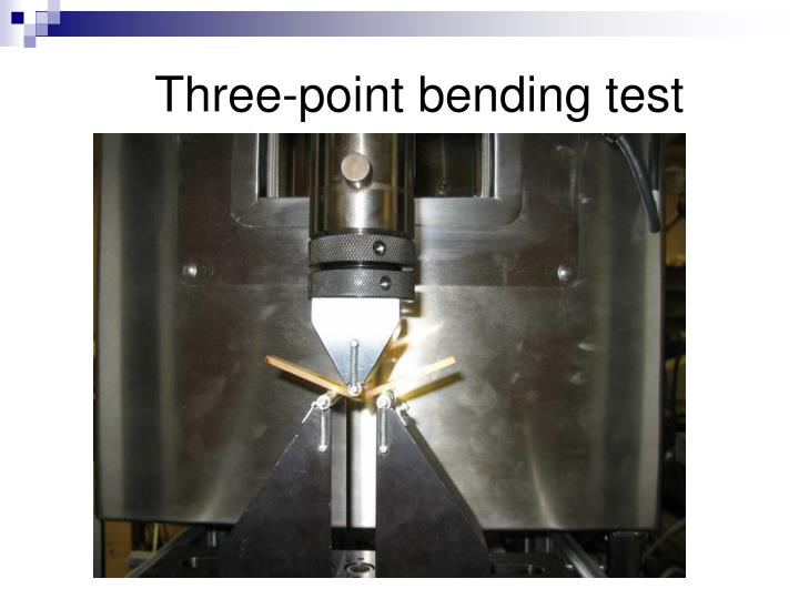 Three-point bending test