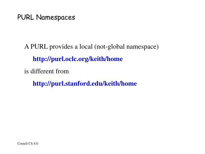 PURL Namespaces