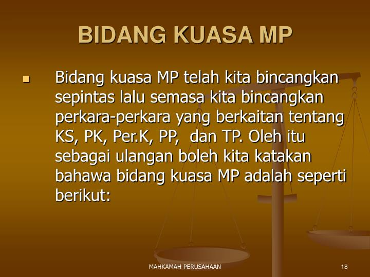 BIDANG KUASA MP