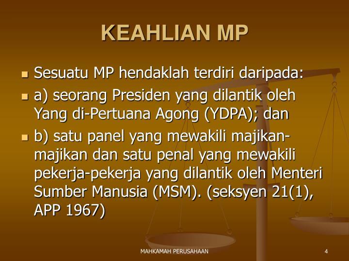 KEAHLIAN MP
