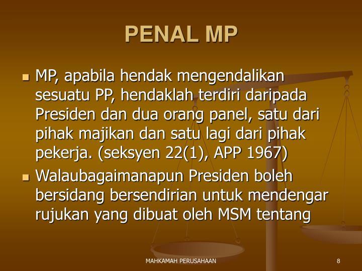PENAL MP