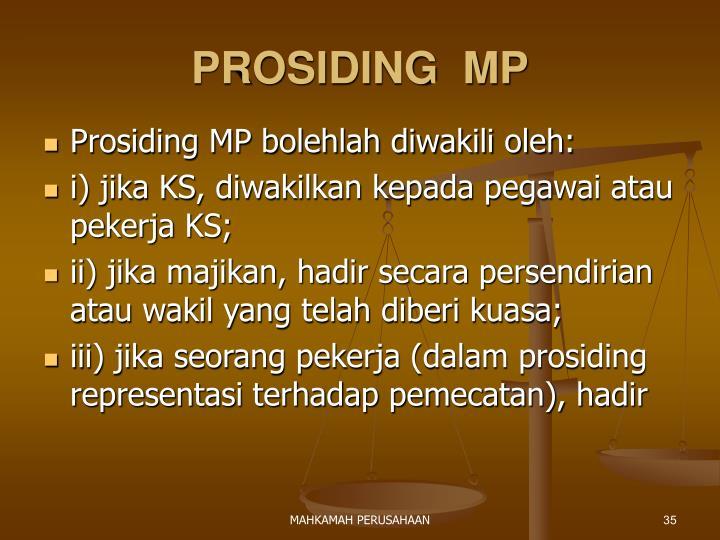PROSIDING  MP