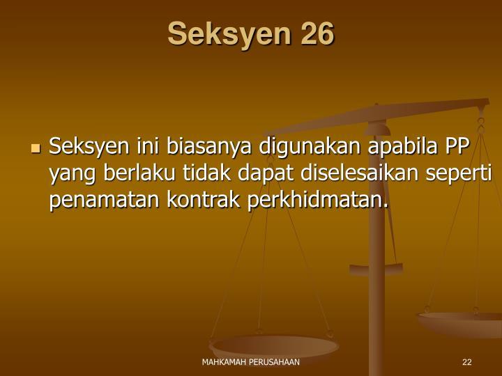 Seksyen 26