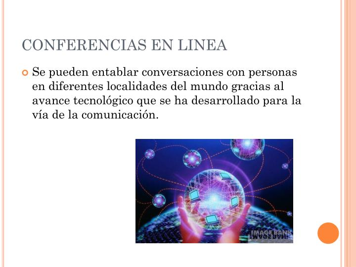 CONFERENCIAS EN LINEA