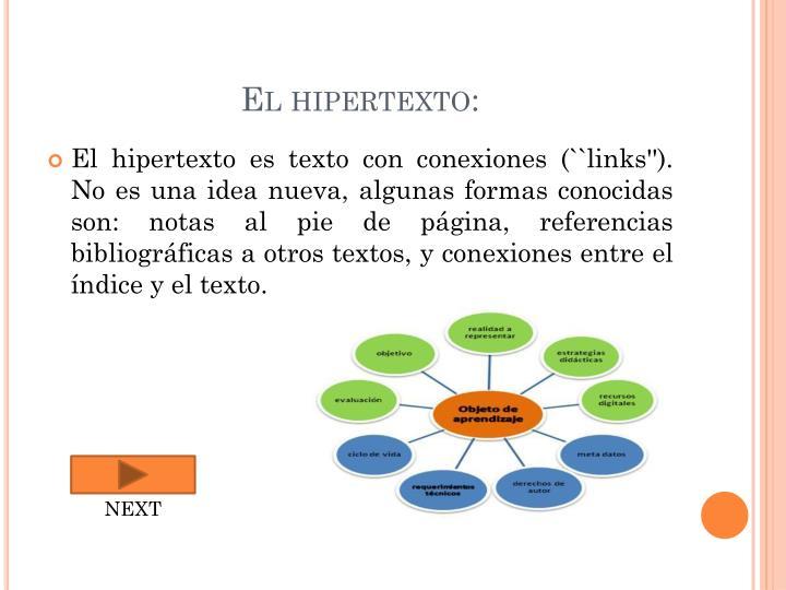 El hipertexto: