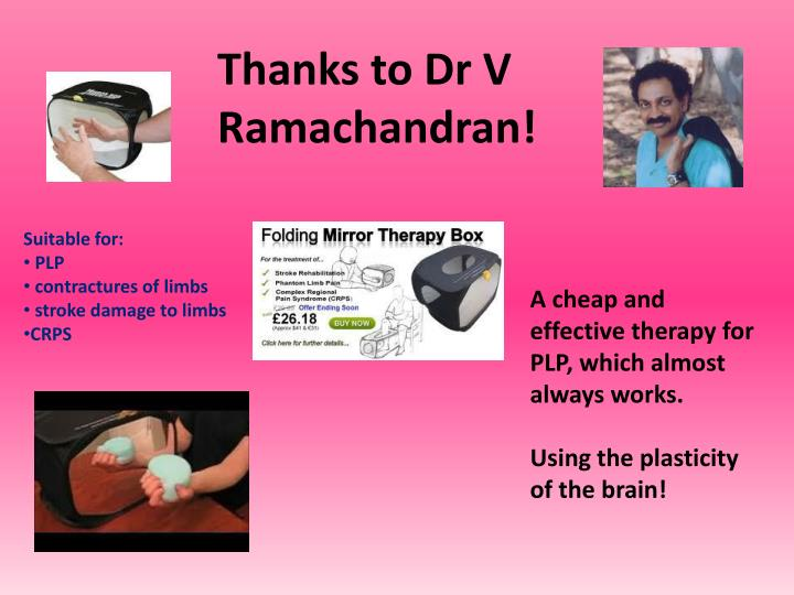 Thanks to Dr V