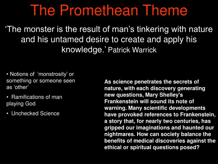 The Promethean Theme