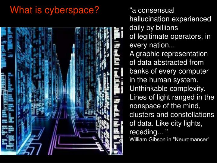 What is cyberspace?