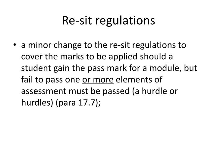 Re-sit regulations