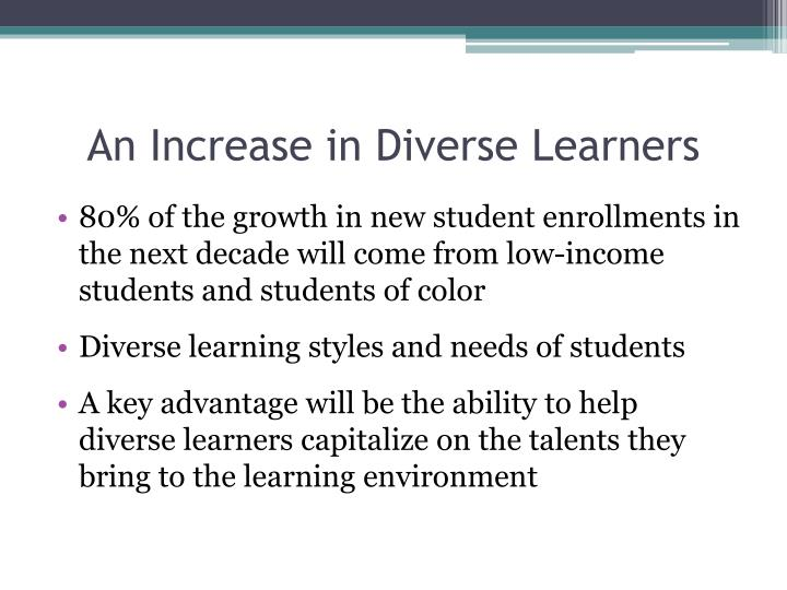 An Increase in Diverse Learners