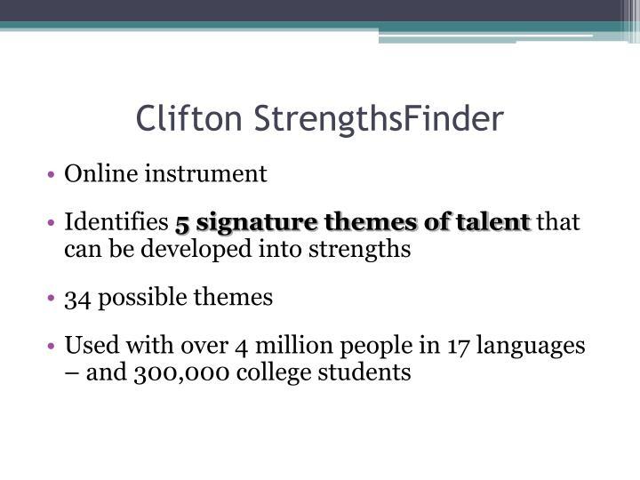 Clifton StrengthsFinder