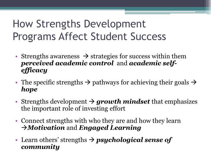 How Strengths Development