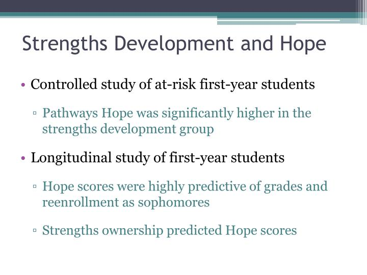 Strengths Development and Hope