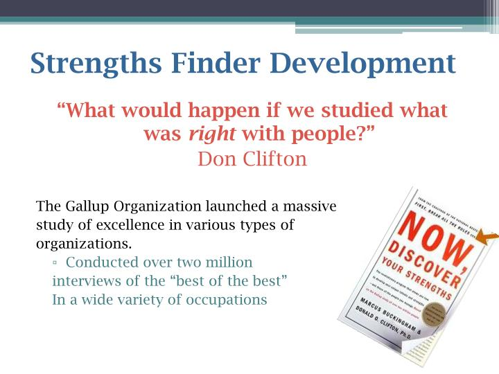 Strengths Finder Development