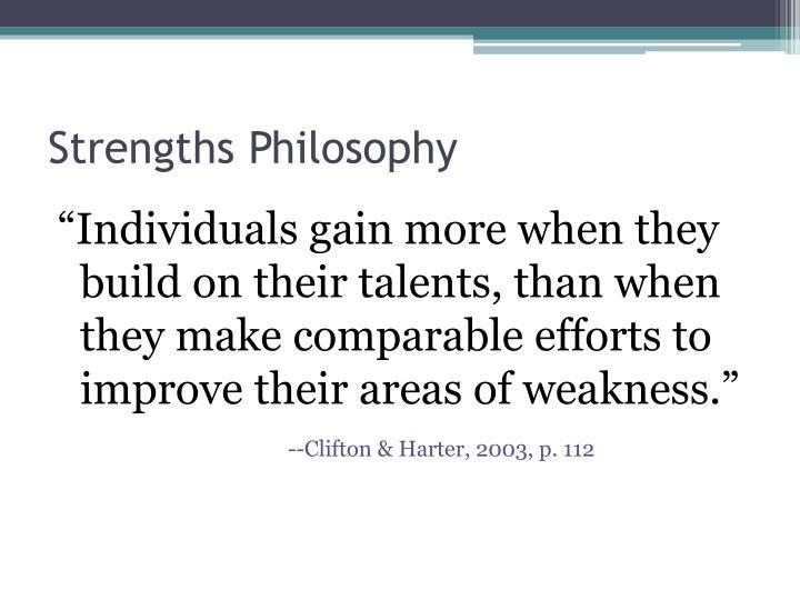 Strengths Philosophy