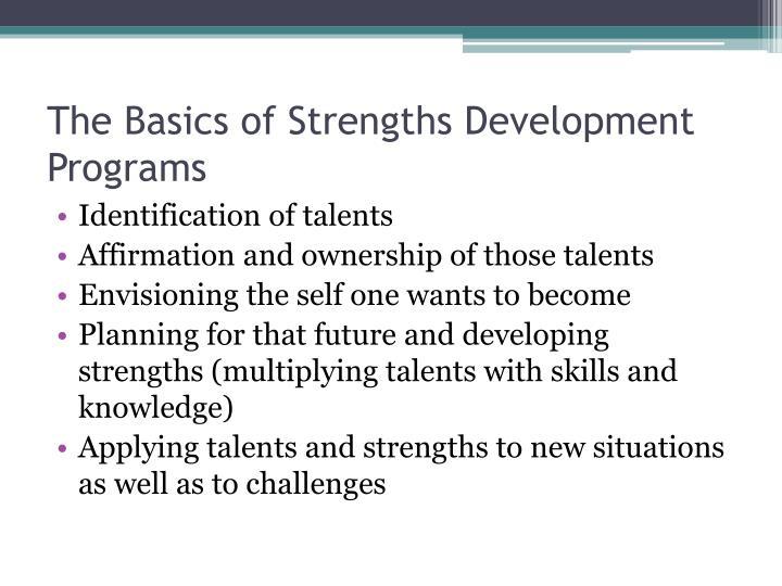 The Basics of Strengths Development Programs