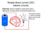 simple direct current dc electric circuits