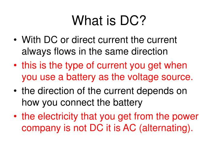 What is DC?