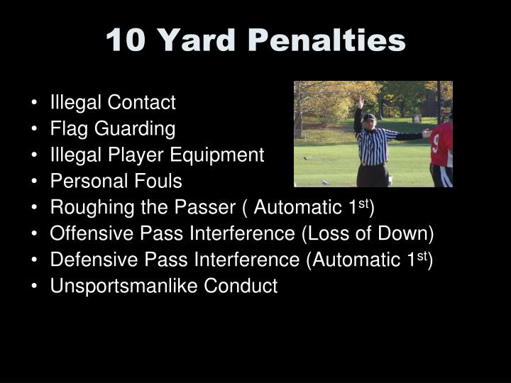 10 Yard Penalties
