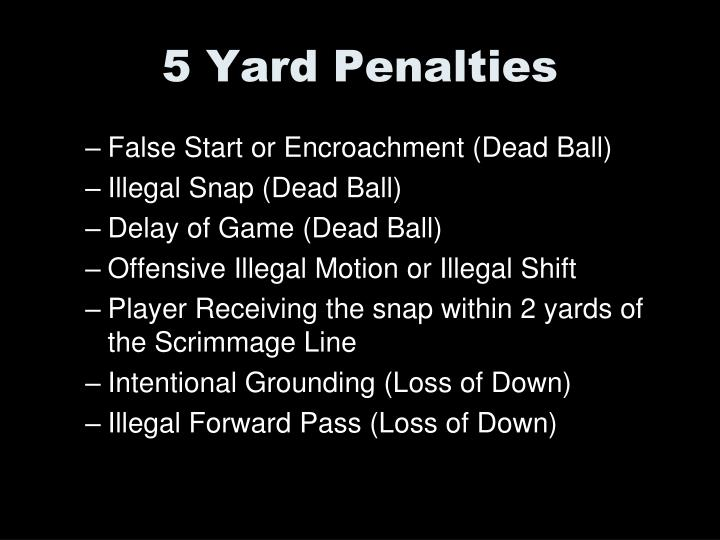 5 Yard Penalties