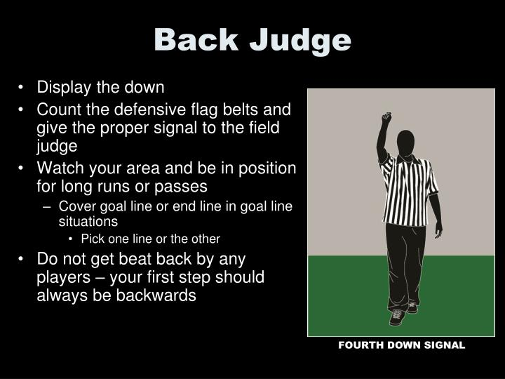 Back Judge