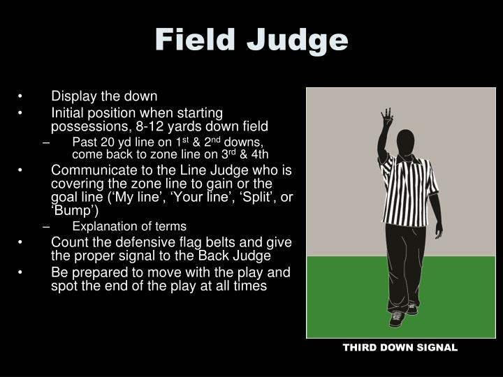 Field Judge