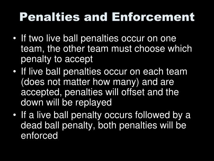 Penalties and Enforcement