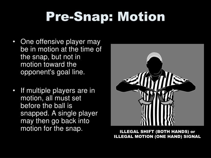 Pre-Snap: Motion