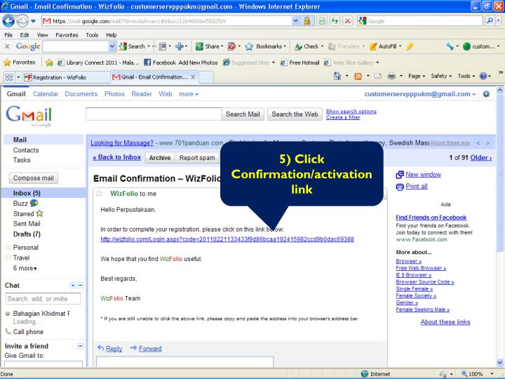 5) Click Confirmation/activation link