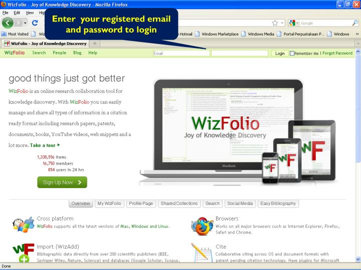 Enter  your registered email and password to login