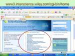 www3 interscience wiley com cgi bin home