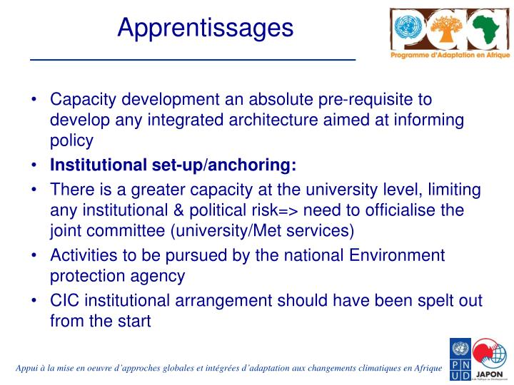Apprentissages