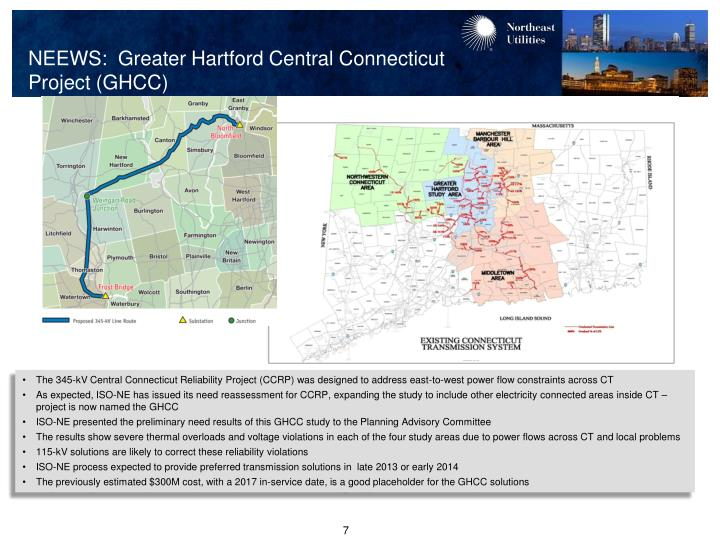 NEEWS:  Greater Hartford Central Connecticut       Project (GHCC)