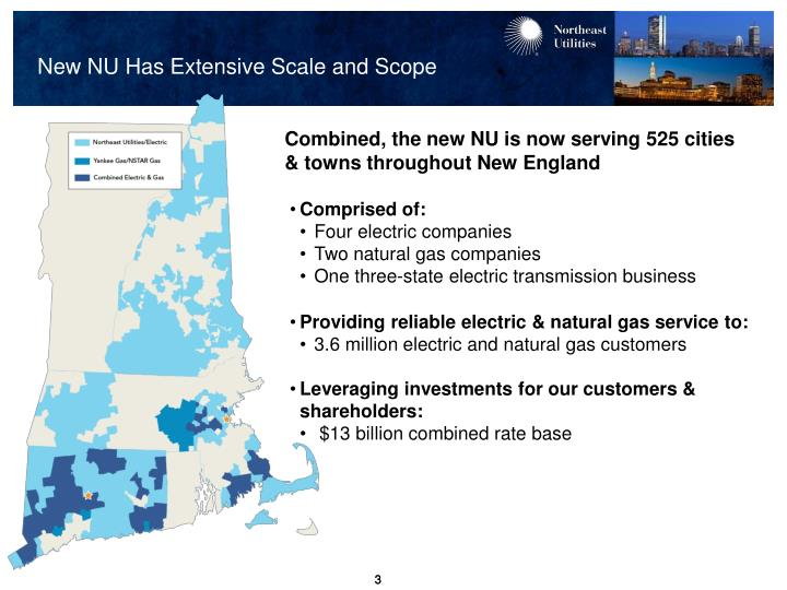 New nu has extensive scale and scope