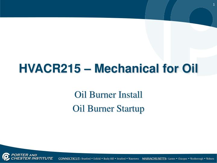 Hvacr215 mechanical for oil