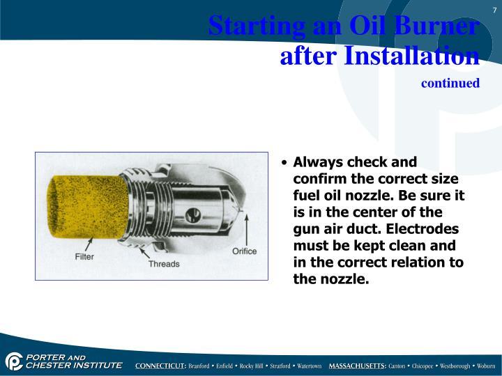 Starting an Oil Burner
