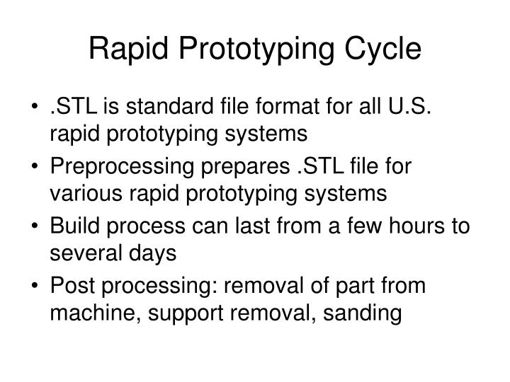 Rapid Prototyping Cycle