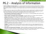 p6 2 analysis of information2