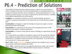 p6 4 prediction of solutions