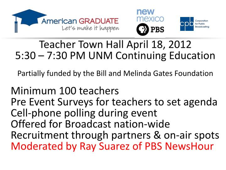 Teacher Town Hall April 18, 2012
