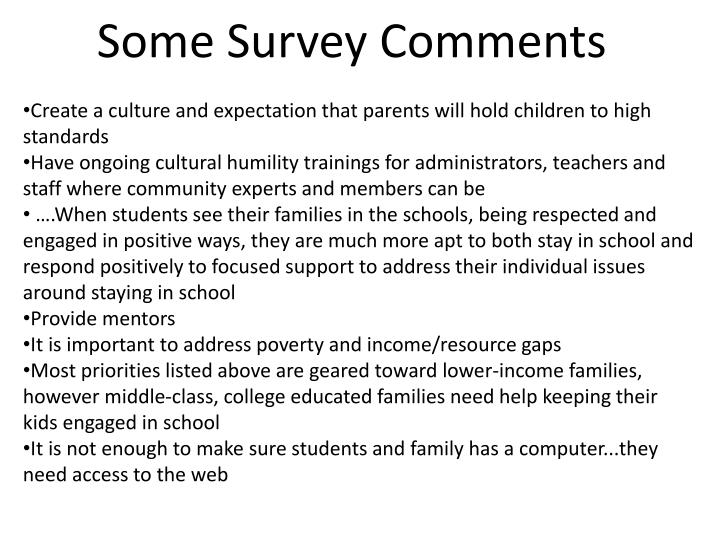 Some Survey Comments