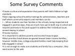 some survey comments