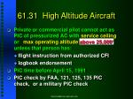 61 31 high altitude aircraft